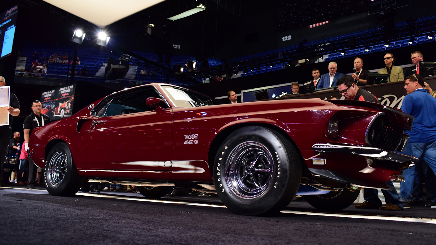 An image of a 1969 Ford Mustang 429 Fastback at Barrett-Jackson's 2017 Northeast Auction.