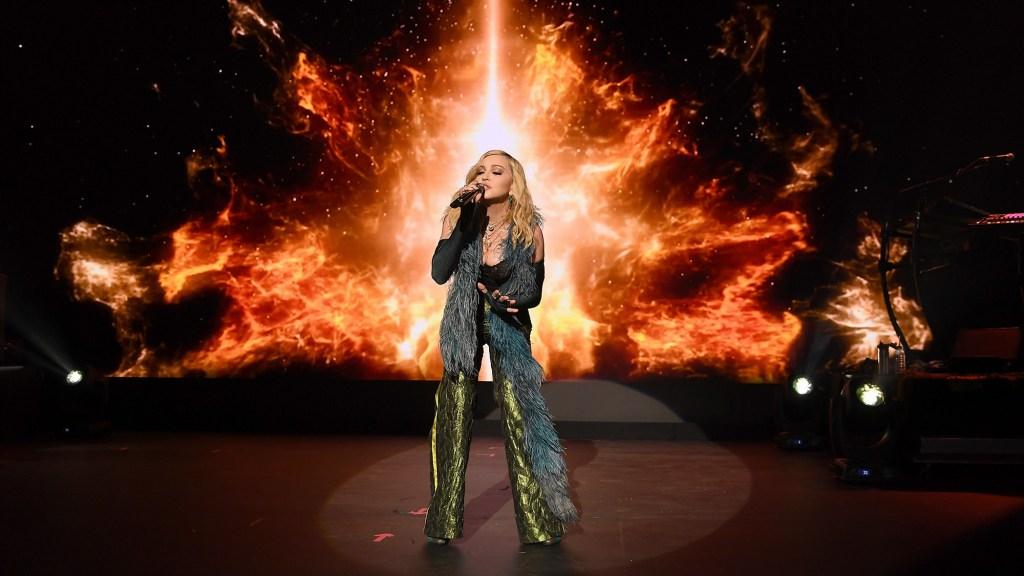 Madonna performs at The Leonardo DiCaprio Foundation 4th Annual Saint-Tropez Gala Dinner & Auction