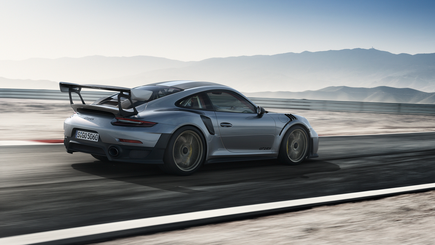 An image of the 2018 Porsche 911 GT2 RS on a track.