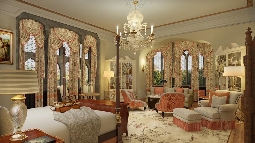 Adare Manor interior of the bedroom