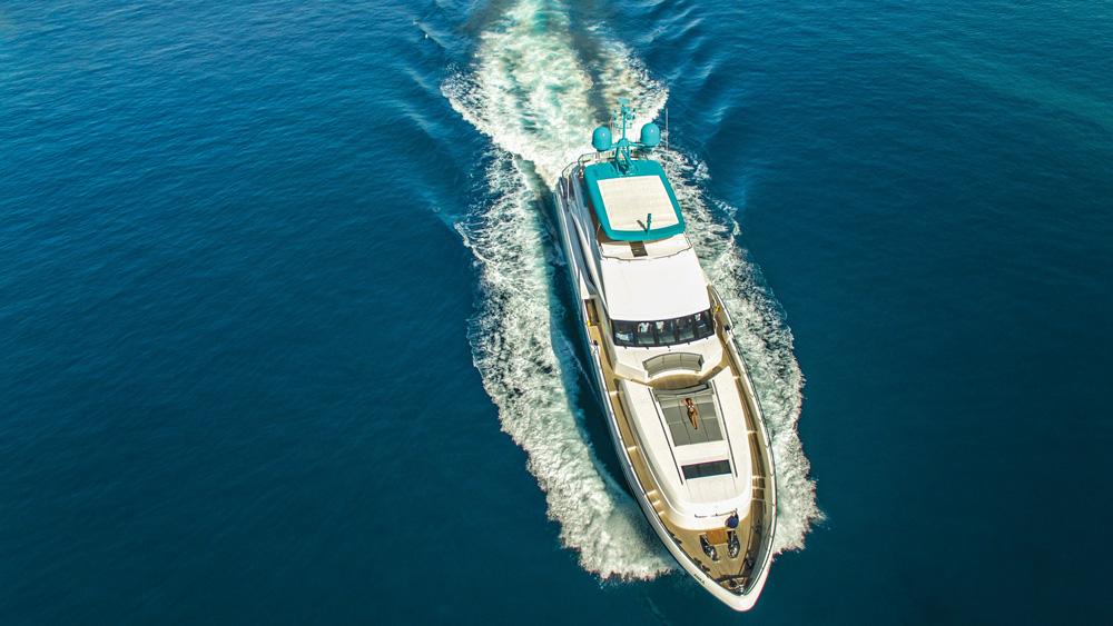 aerial view of the Anka Princess Yachts
