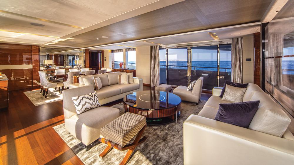 Anka Princess Yachts club lounge