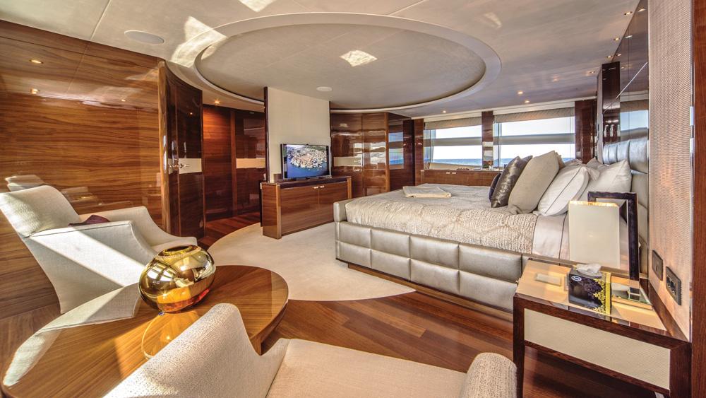 Anka Princess Yachts master suite