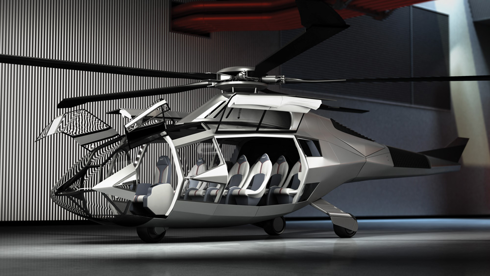 exterior of the FCX-001 Bell Helicopter