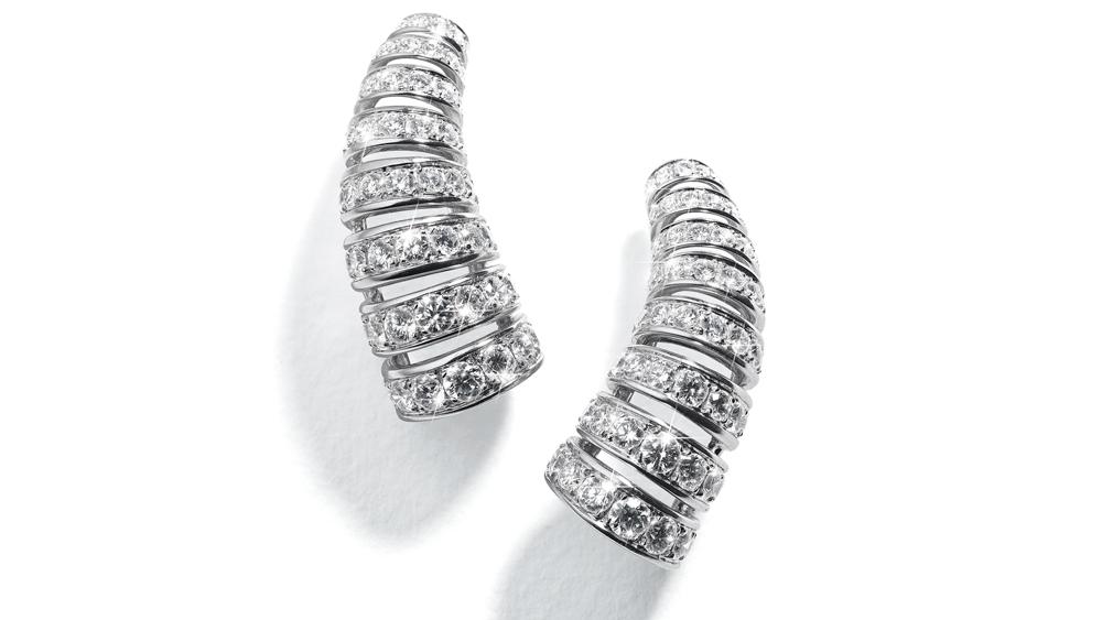 Belperron diamond earrings