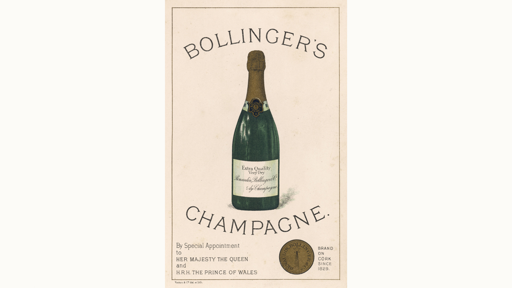 bollingers champagne label