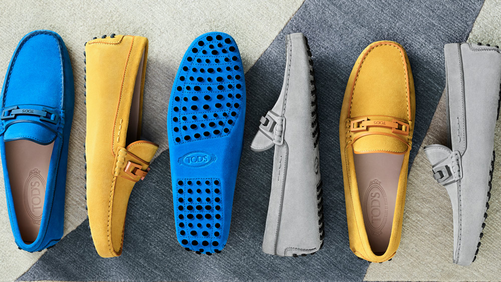 Bright suede Gommino driving shoes