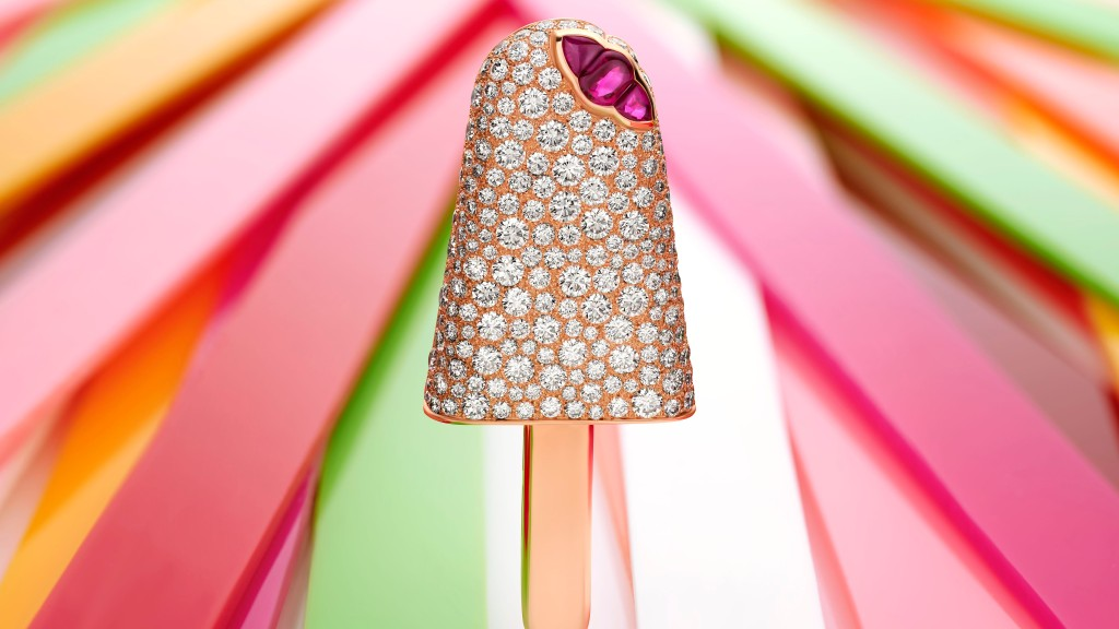 Bulgari's Festa collection includes a diamond popsicle