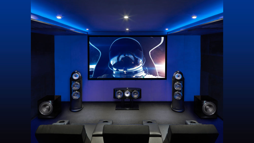 Bowers & Wilkins DB1D subwoofers in a home cinema