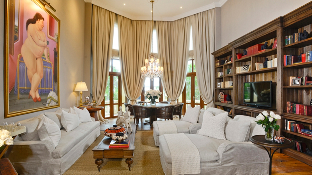 Elegant presidential suite with art by Fernando Botero