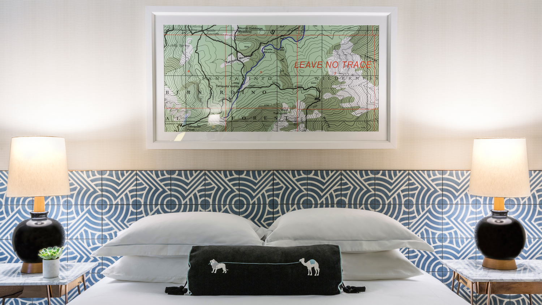 Kimpton The Rowan Palm Springs interior of the bedroom