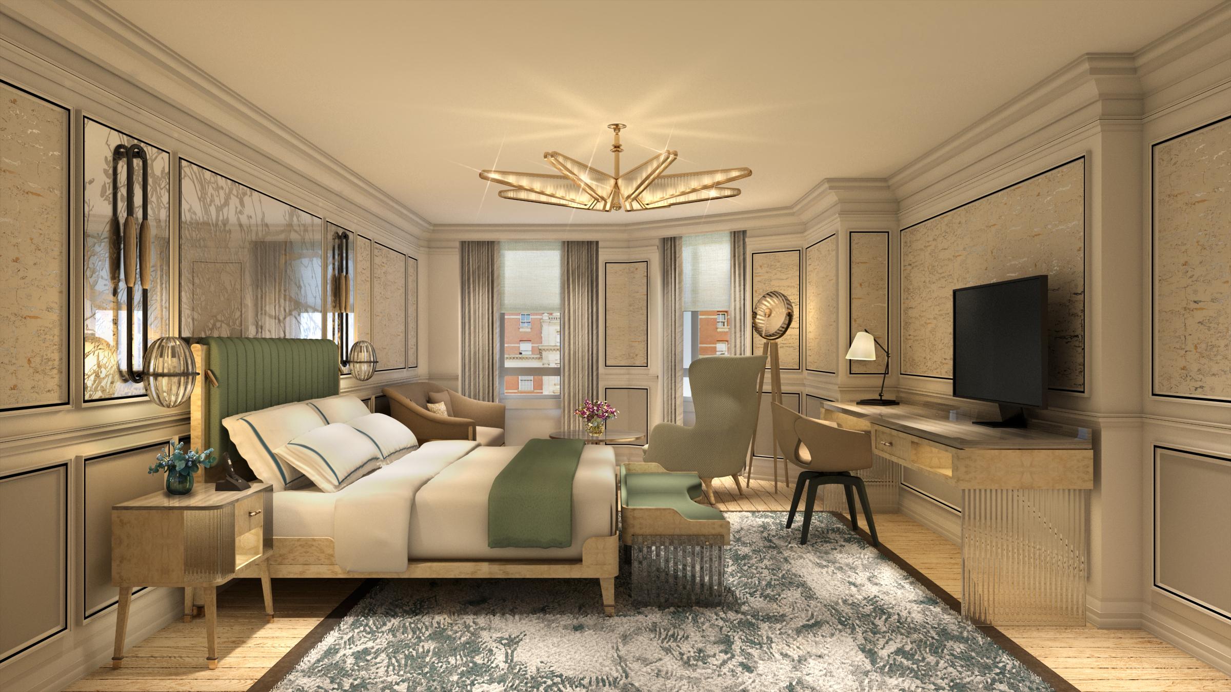 Photo: Courtesy Mandarin Oriental Hyde Park interior of the Knightsbridge bedroom