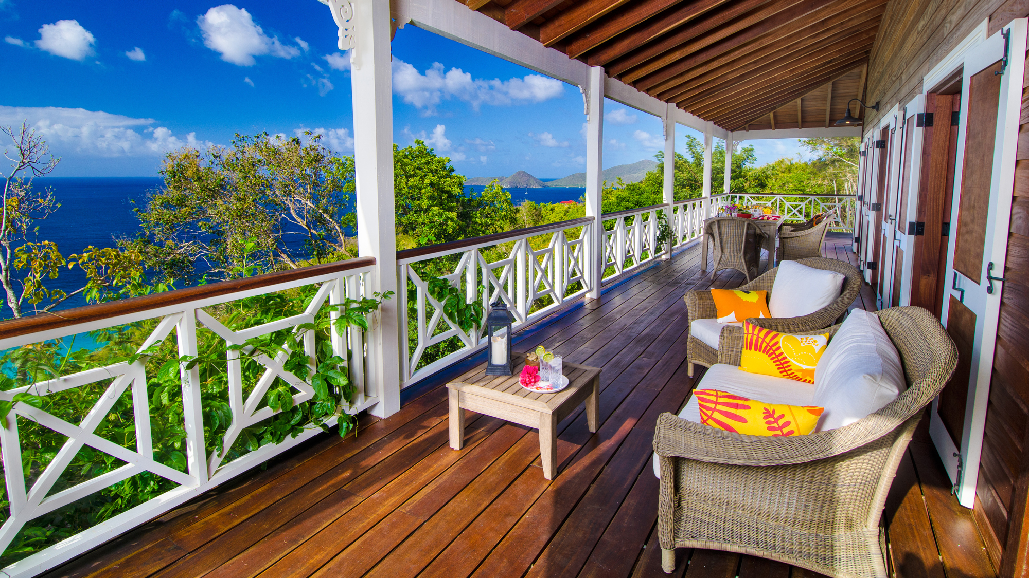 patio view overlooking the water from Trunk Nest in the british virgin islands