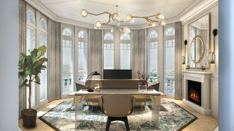 Turret Suite Knightsbridge View foyer at the Mandarin oriental in hyde park