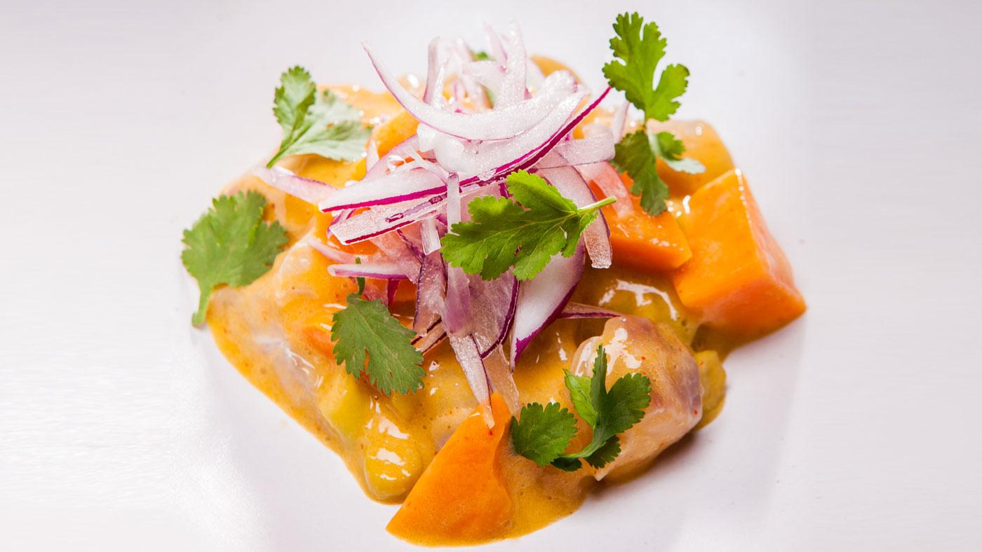 Sweet potato, red onion, and cilantro cuisine