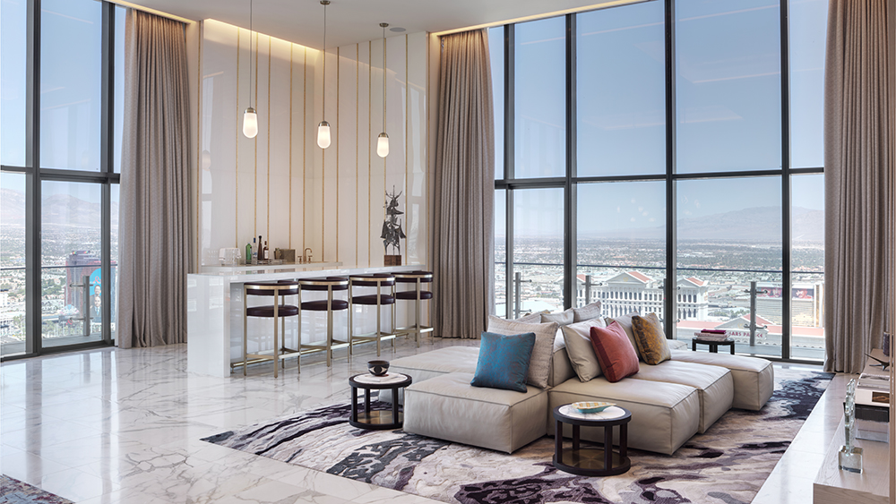Cosmopolitan of Las Vegas interior of Boulevard Penthouse living space interior