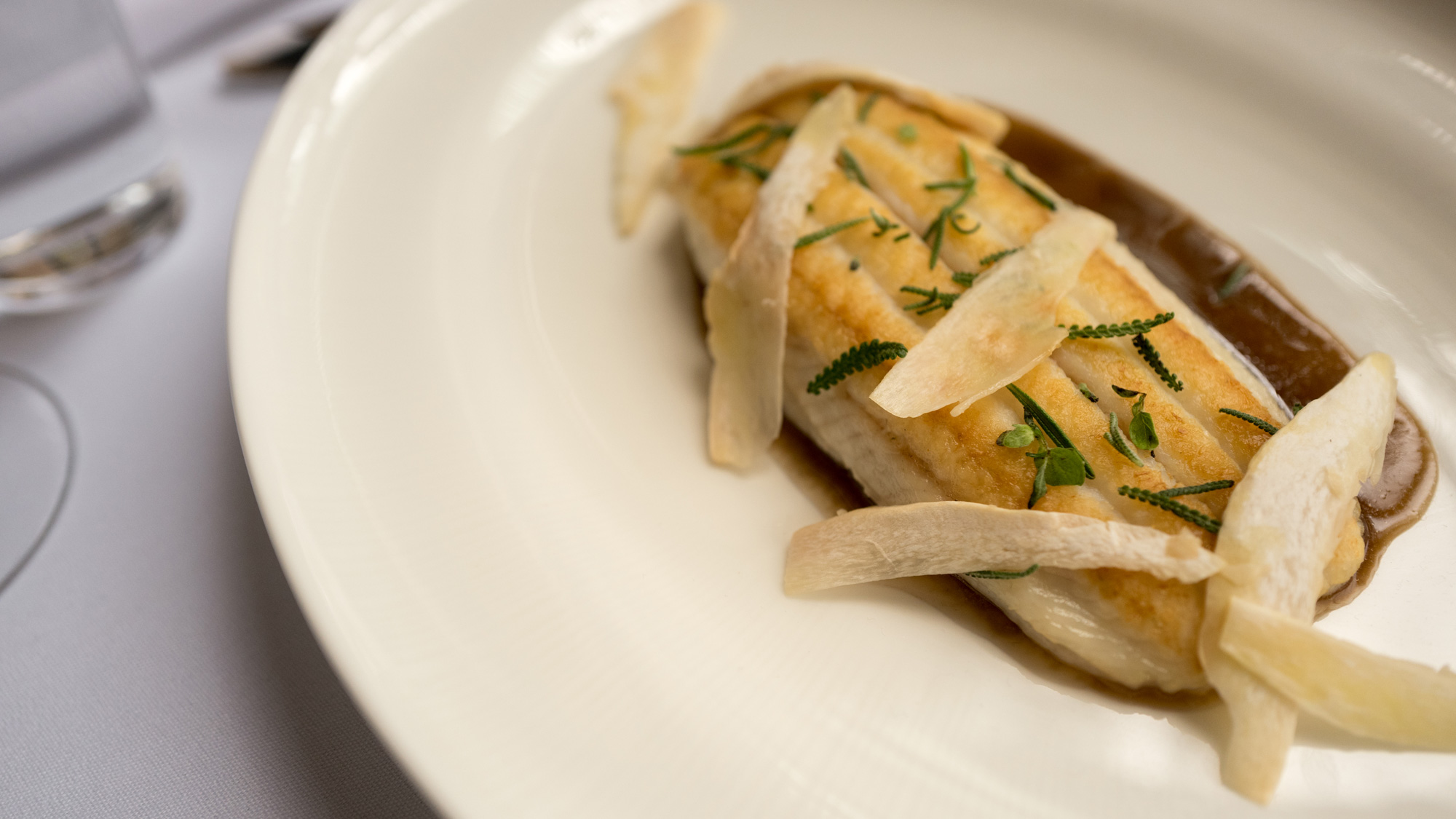 Dover sole in meyer meuniere at The Pool