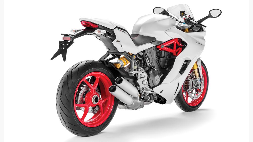 ducati supersport rear of bike
