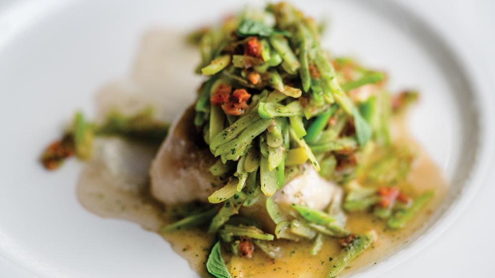 Belmond train serves fresh trout with citric yogurt and onion broth