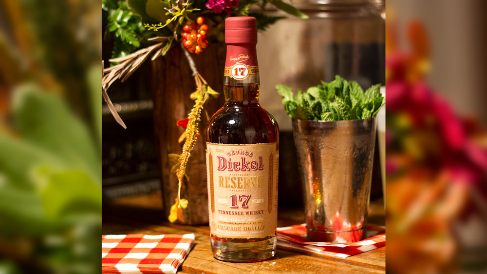 George Dickel Clark spirits bottle