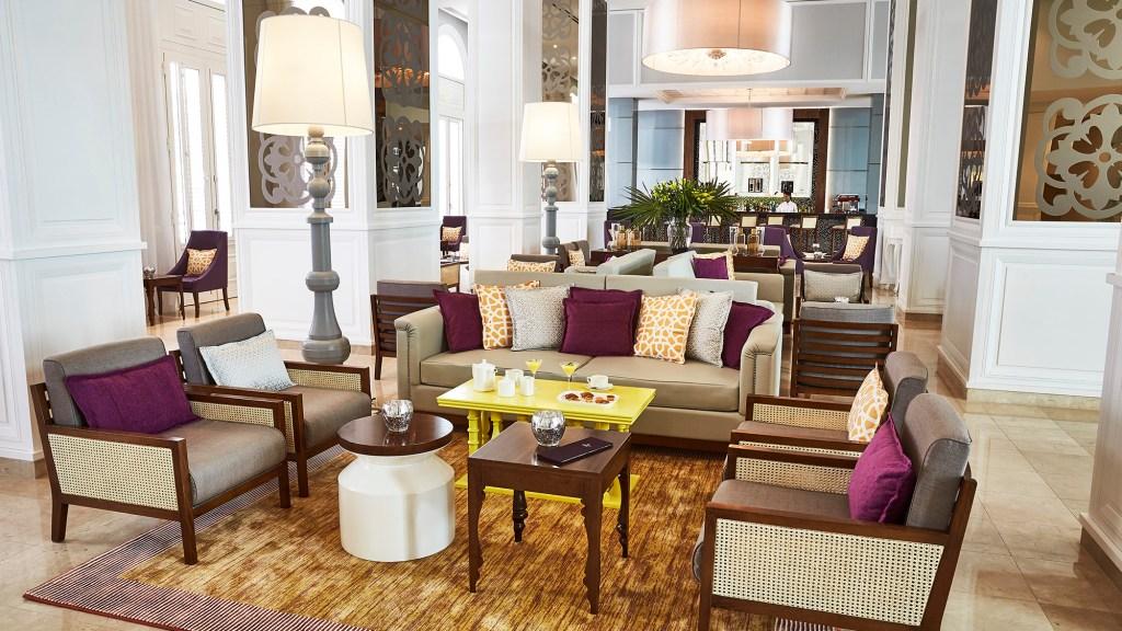The bar at the Gran Hotel Manzana Kempinski La Habana Cuba