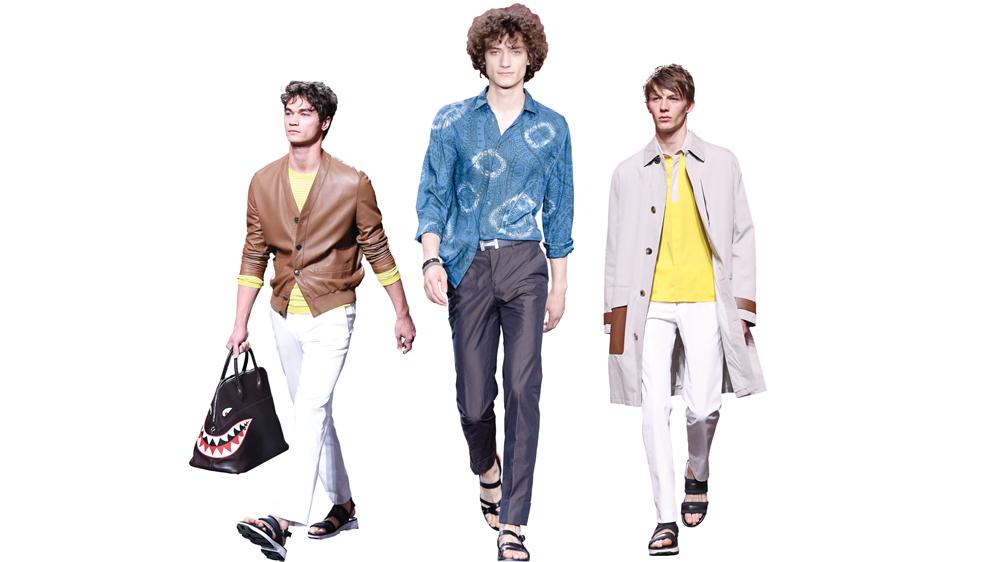Hermes models in Spring attire