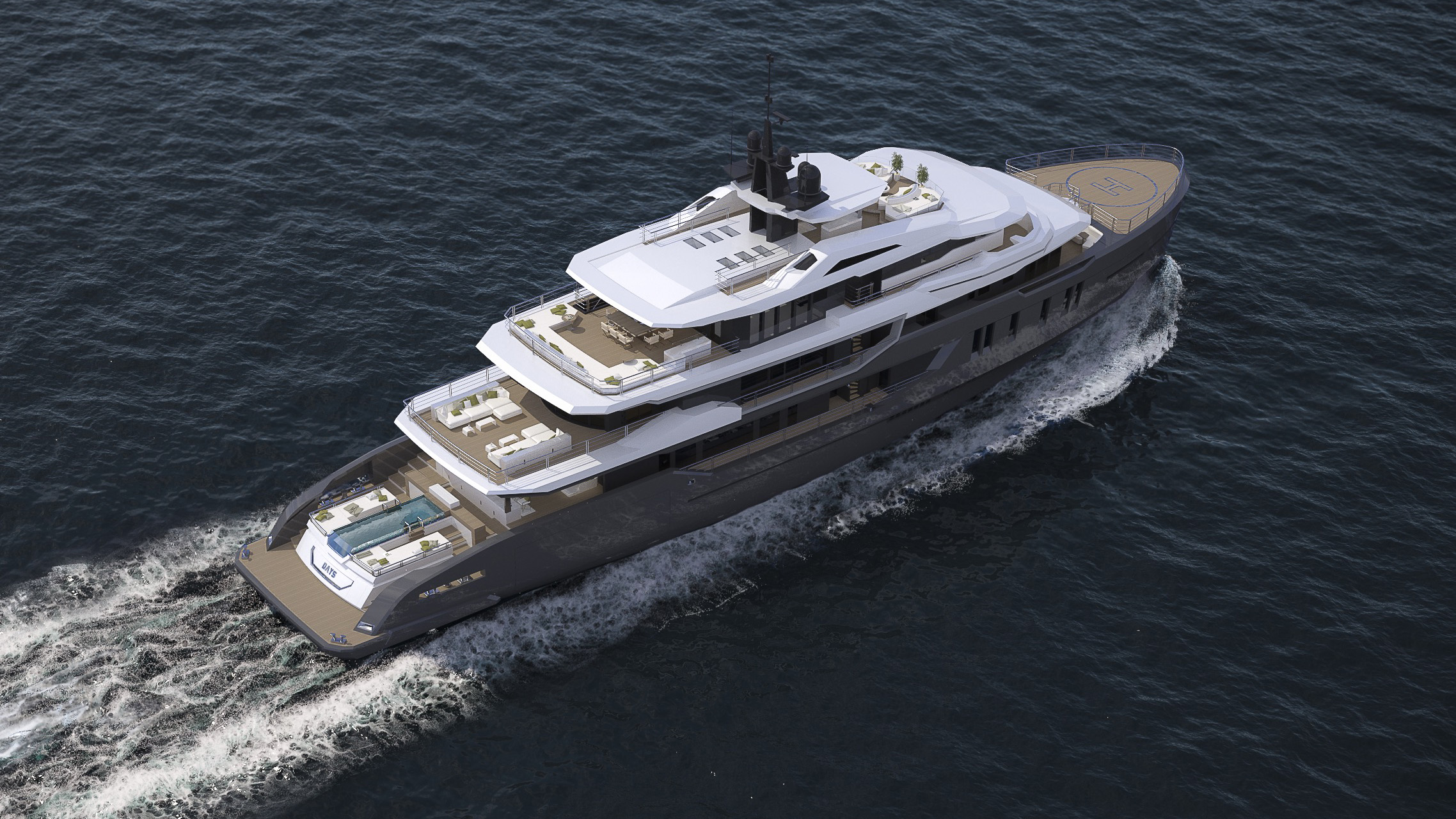 CCN Ice Class Superyacht Explorer Yacht Day's Hot Lab AES Yacht