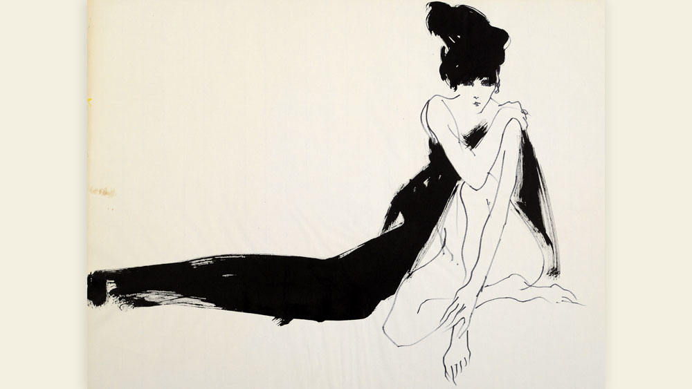 Kenneth Paul Block (1902-2009)YSLStudy For Fashion-Savages John Fairchild, 1965