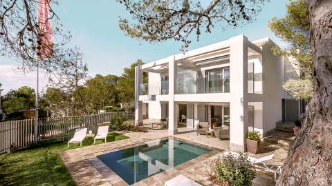 Garden Bungalow with pool at Seven Pines Resort Ibizia, Balearic Islands