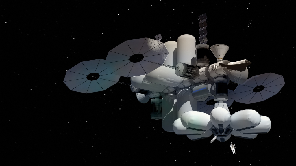 Managed, Reconfigurable, In-space Nodal Assembly (MARINA) is luxury space hotel designed by MIT students won a recent NASA competition