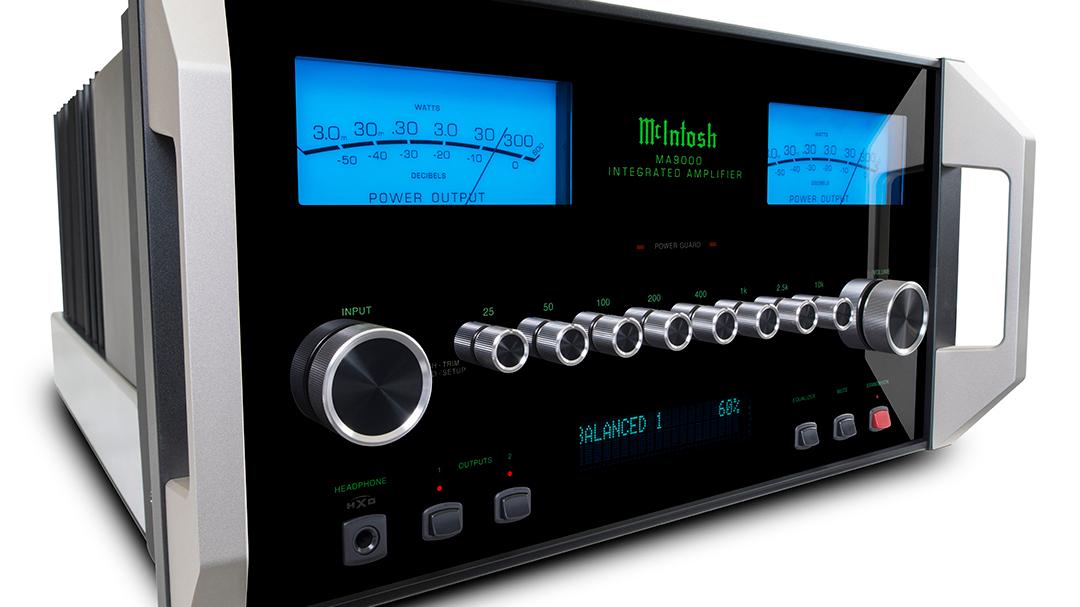 McIntosh MA9000 integrated amp on white