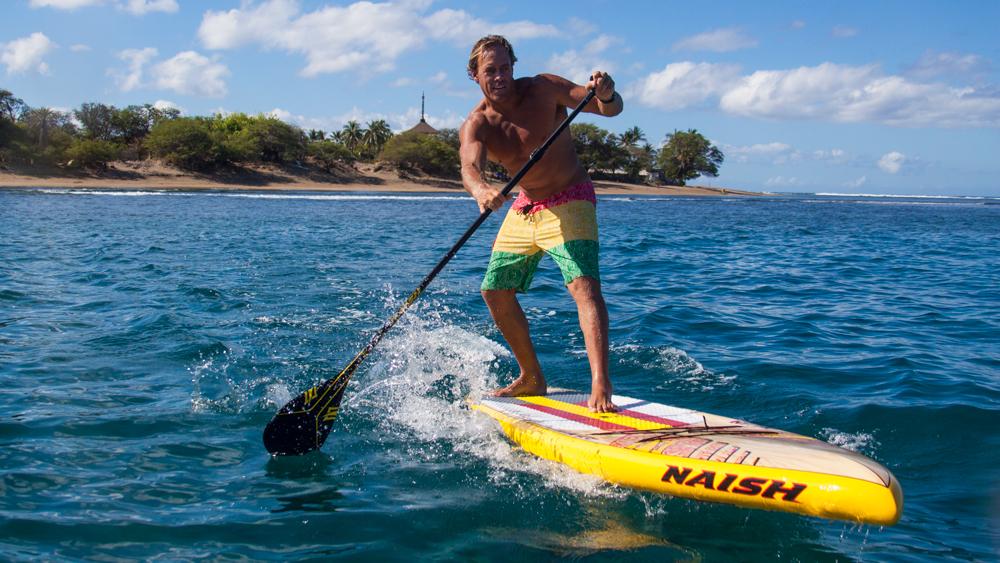 Nash paddleBoard being ridden on a lake