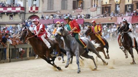 Palio di Siena in Italy horserace