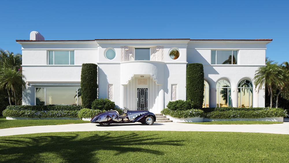 Exterior of palm beach art deco home