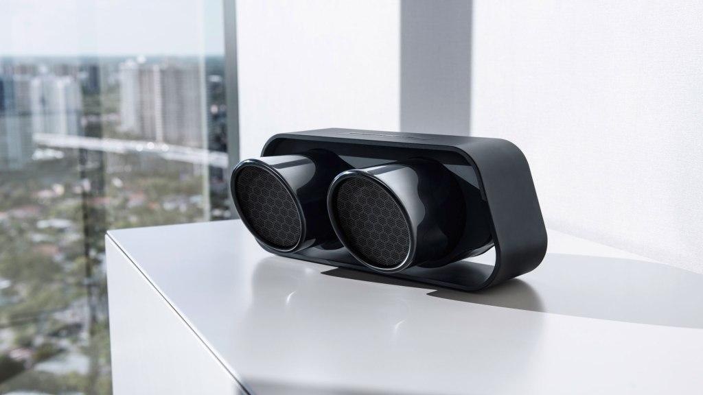 Porsche Design 911 Speaker against skyline background