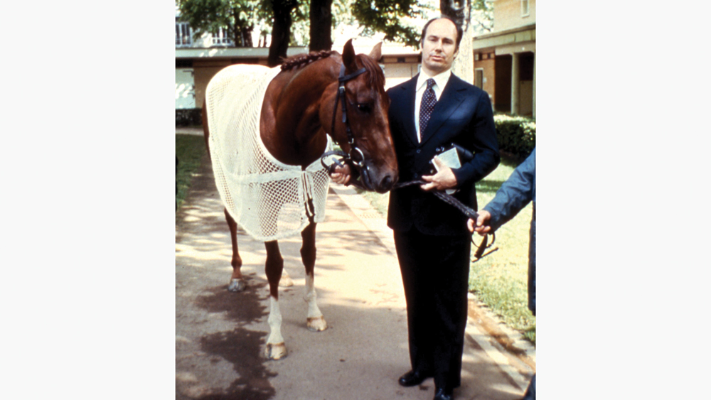 prince karim with his thoroughbred