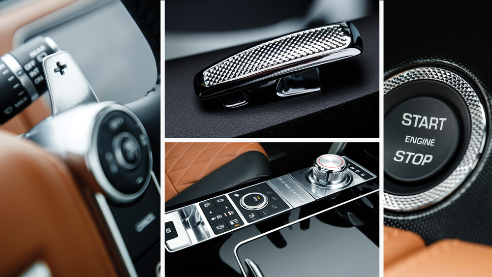 range rover svautobiography interior with diamond-quilted leather