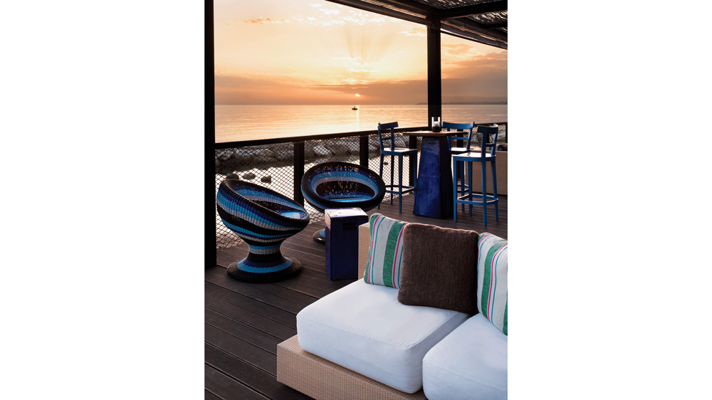 in-room patio at the Verdura resort in Sicily