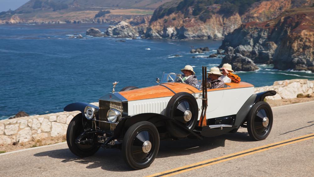 Rolls-Royce on the coast