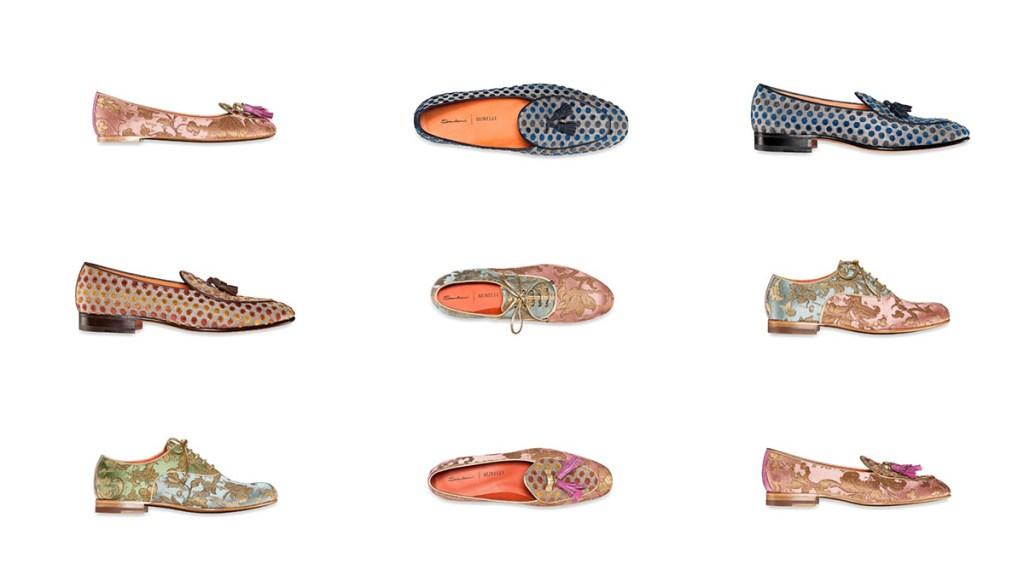 Santoni x Rubelli Shoe Collaboration