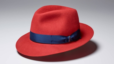 Borsalino Hat in red