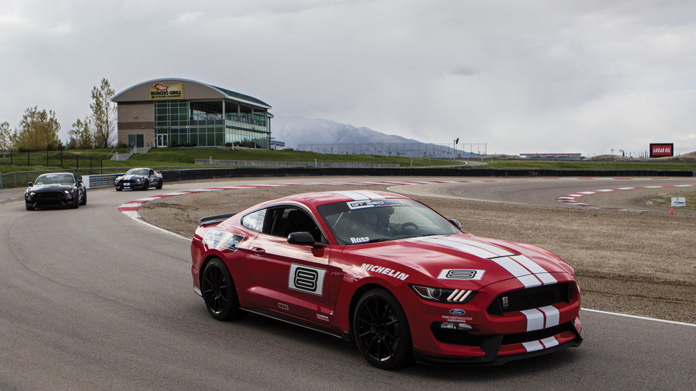 Shelby GT350 on the track