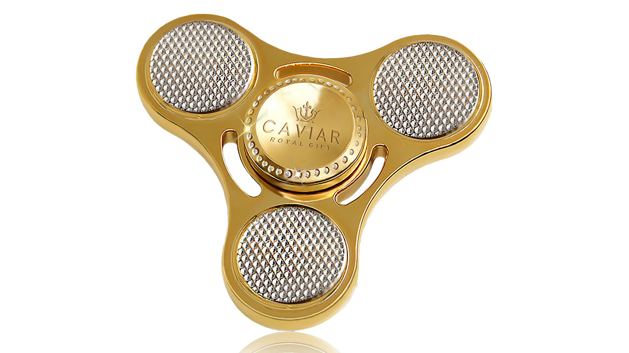 Caviar gold-plated fidget spinner with diamonds