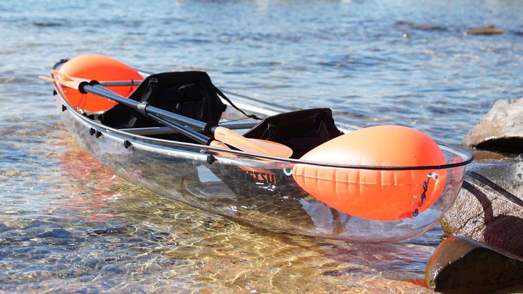 Driftsun Transparent Kayak floating in water