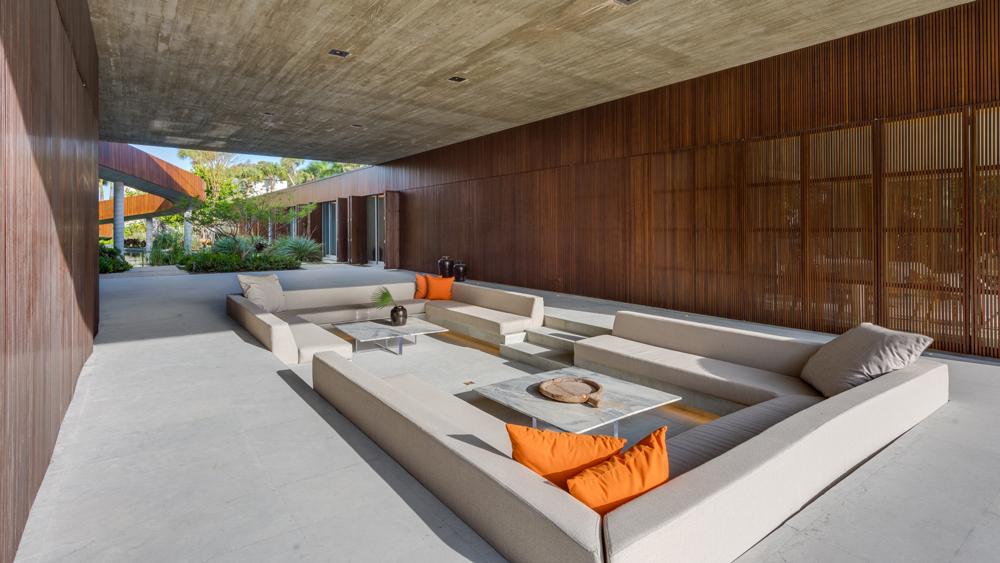 Miami Jungle home outdoor sunken living room