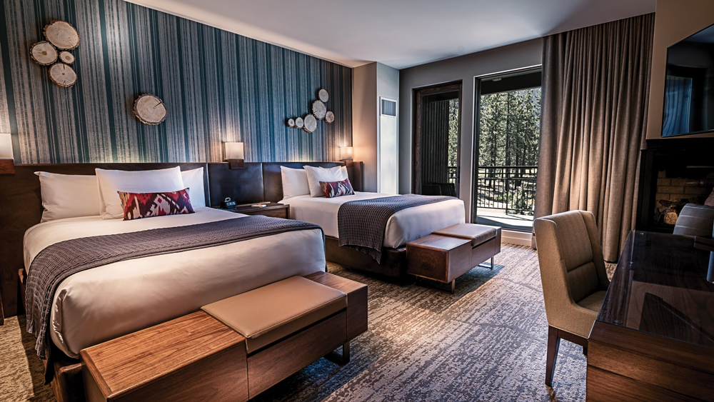 double bed suite at the Lodge at Edgewood Tahoe