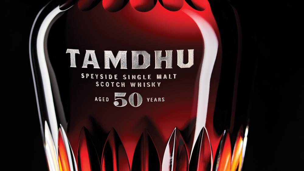 Tamdhu rye whisky bottle