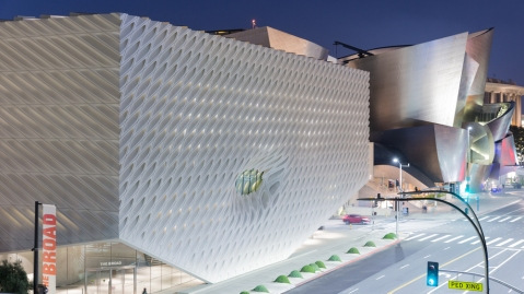 exterior of The Broad museum