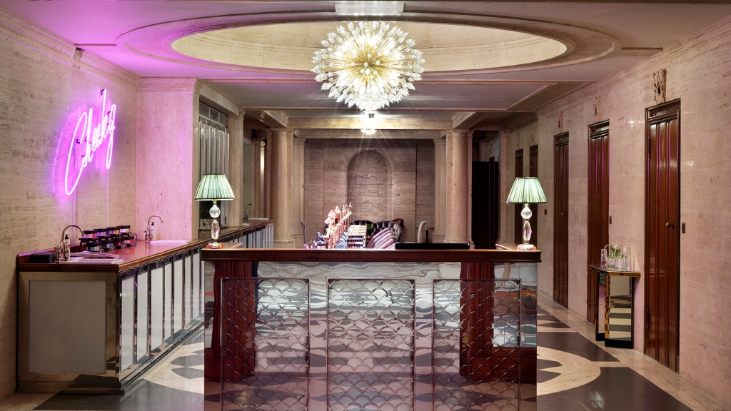 The Cheeky Nail salon at the Ned Hotel's Club Relax in London