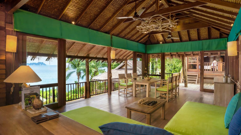 Retreat at Six Senses Yao Noi interior of living room